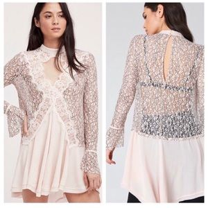 Free People Tell Tale Lace Babydoll Tunic